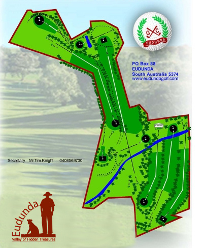 Eudunda Golf Club - Course Map